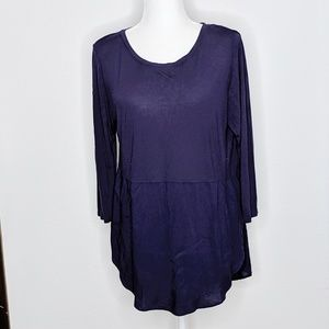 Two by Vince Camuto Blouse Blue Women's Lg